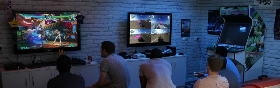 Our very own games lounge complete with retro and brand new consoles & games