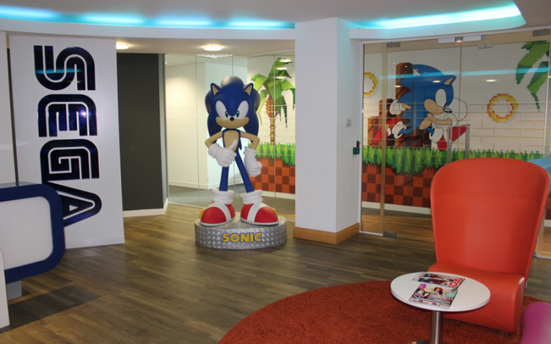 Our Reception area with Sonic ready to welcome you