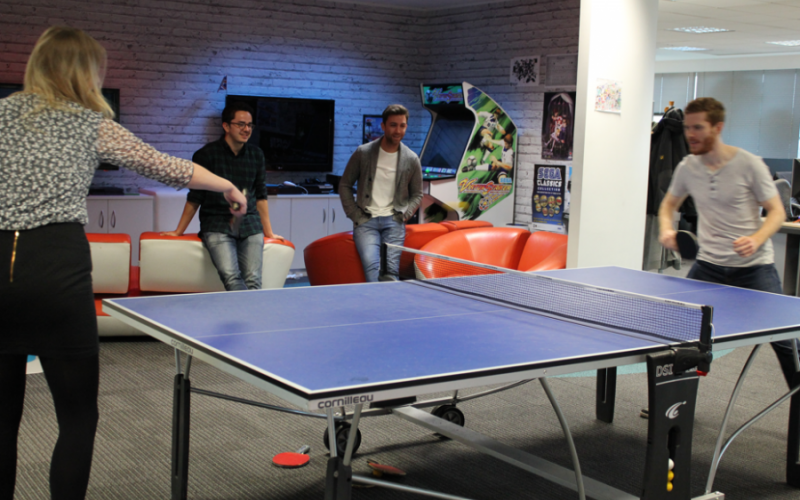 Ping pong tables to let off some steam
